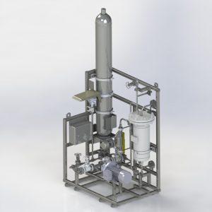 Render of a API Plan 53B bladder accumulator